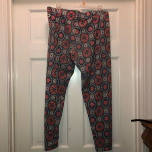 Cato leggings blue/peach XL